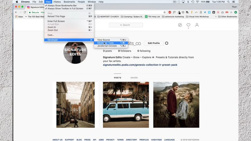 google developer mode lets you post directly from your mac or pc to instagram