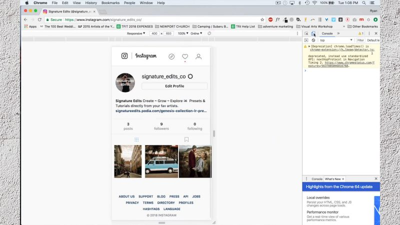 google developer mode lets you post directly from chrome to instagram