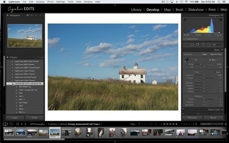 Your new lightroom presets have been added and installed!