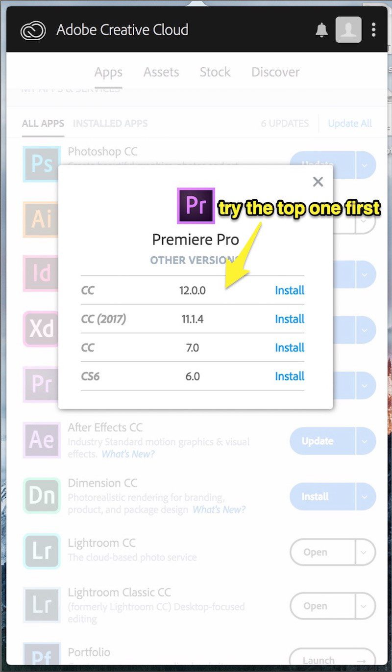 How To Install A Previous Version Of Any Creative Cloud Application