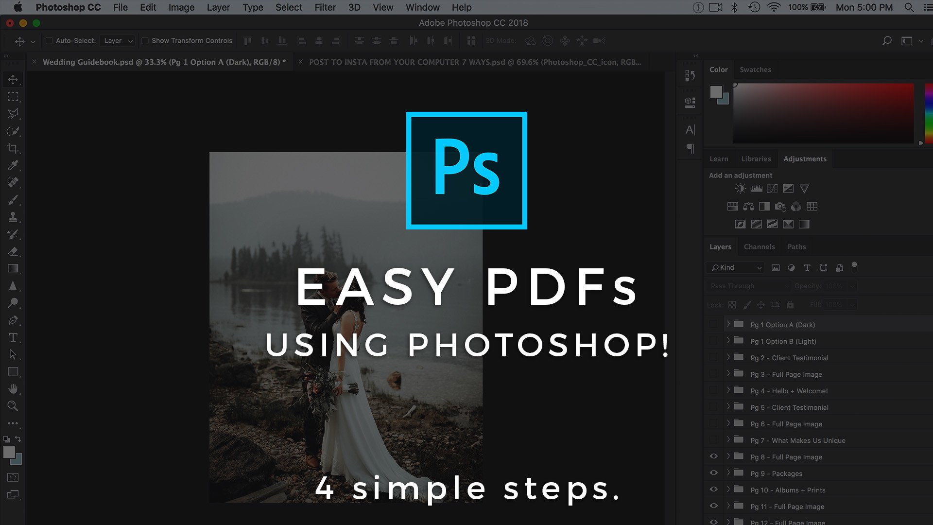 How To Create Multi Page PDFs in Photoshop CC & Export