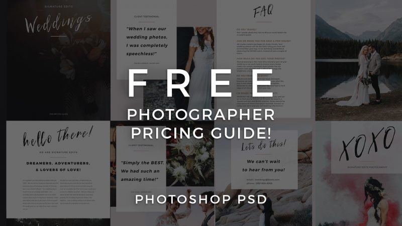 FREE Photographer Pricing Guide Template! - Signature Edits