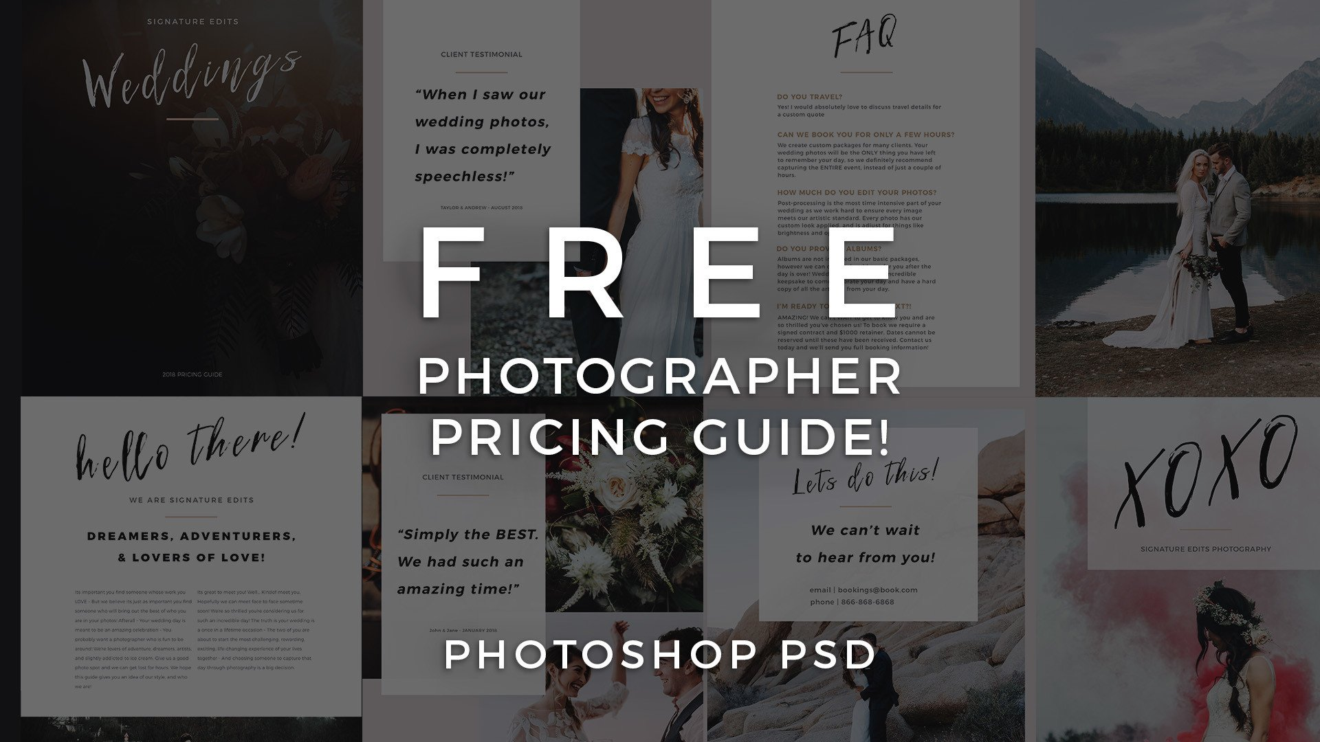 FREE Photographer Pricing Guide Template Signature Edits Edit - Free pricing template for photographers