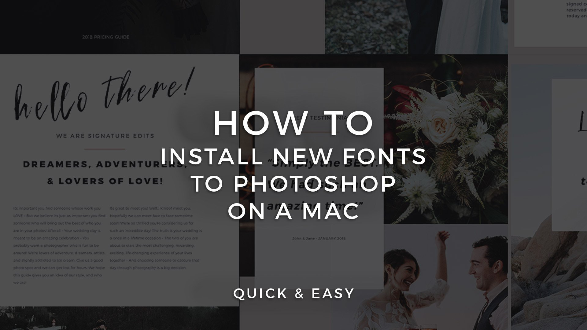How To Download And Install New Fonts To Photoshop CC | Mac Tutorial
