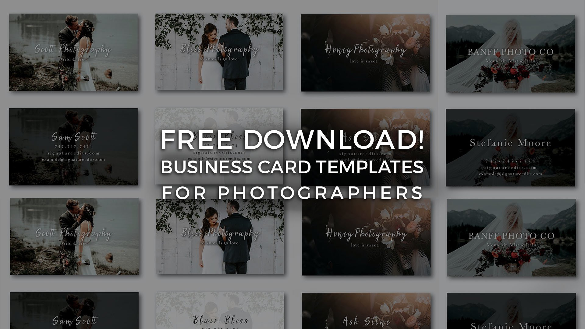 Free photographer business card templates signature edits edit free photographer business card template psd download cheaphphosting Choice Image