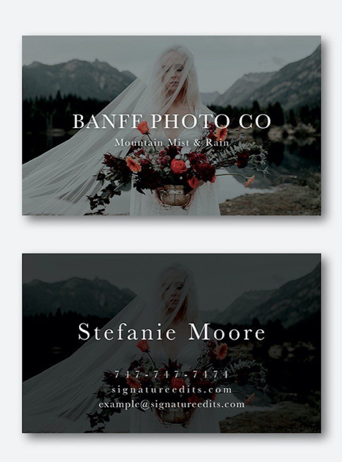 Free Photographer Business Card Template PSD download!