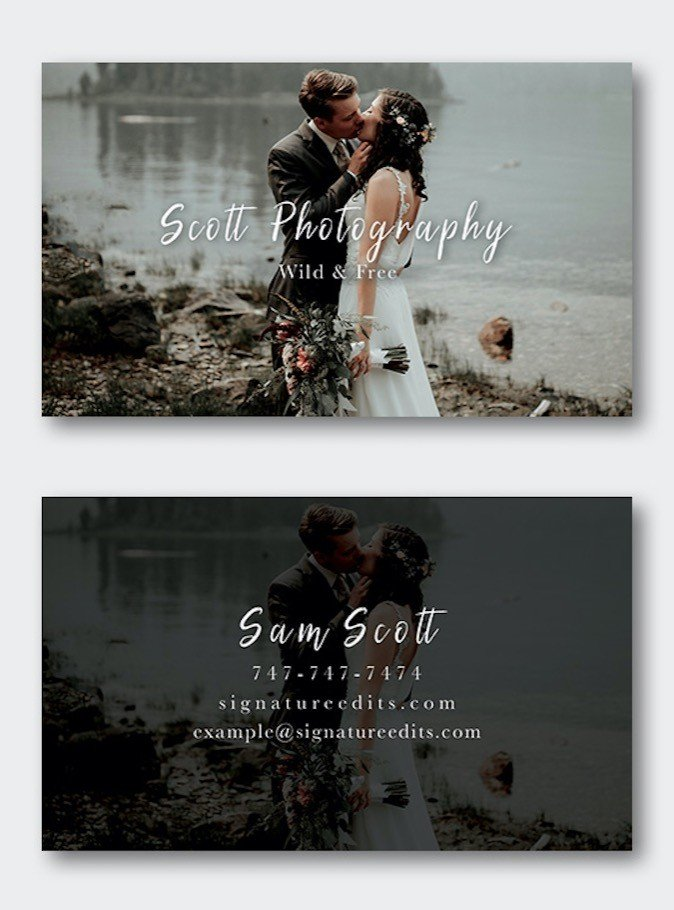 Free photographer business card templates signature edits edit free photographer business card template psd download cheaphphosting Image collections