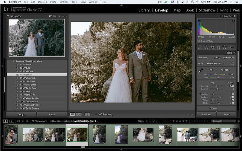 how to add lightroom presets to your smart phone step 2 - apply a preset to any photo